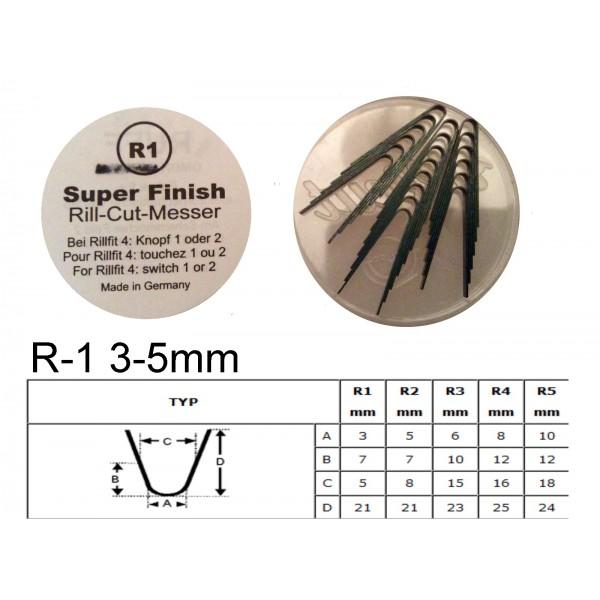 Gilinimo peiliukas R1 3-5mm