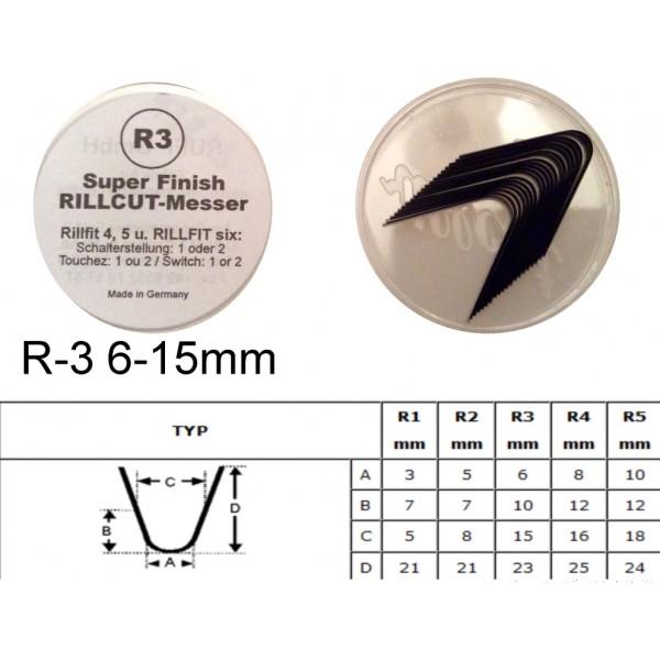 Gilinimo peiliukas R3 6-15mm